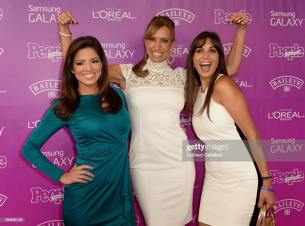 Pamela Silva, <a gi-track='captionPersonalityLinkClicked' href=/galleries/search?phrase=Lili+Estefan&family=editorial&specificpeople=751373 ng-click='$event.stopPropagation()'>Lili Estefan</a> and Giselle Blonde attends People En Espanols Las 25 Mujeres Mas Poderosas at Coral Gables Country Club on October 24, 2013 in Coral Gables, Florida.