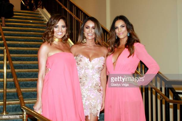 Pamela SilvaConde Catherine Siachoque and Gaby Espino pose as part of TV y Novelas 'Divinas y Humanas' special edition celebration on March 22 2017...