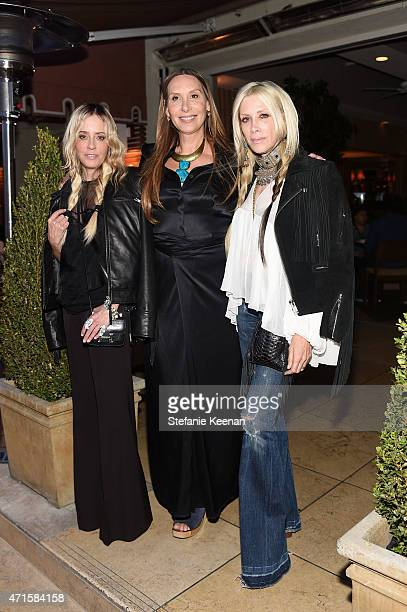 Pamela Skaist Jacqui Getty and Gela Nash attend Crystal Lourd and Jacqui Getty Welcome NETAPORTER's Sarah Rutson To LA at Sunset Tower Hotel on April...