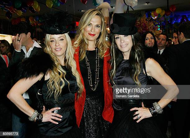 Pamela Skaist Levy actress Molly Sims and Gela NashTaylor attend the Juicy Couture New York Boutique Opening on November 6 2008 in New York City New...