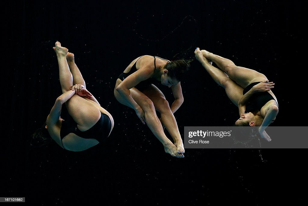 <a gi-track='captionPersonalityLinkClicked' href=/galleries/search?phrase=Pamela+Ware&family=editorial&specificpeople=6839171 ng-click='$event.stopPropagation()'>Pamela Ware</a> of Canada competes in the Women's 3m Springboard Final during day two of the FINA/Midea Diving World Series 2013 at the Royal Commonwealth Pool on April 20, 2013 in Edinburgh, Scotland.