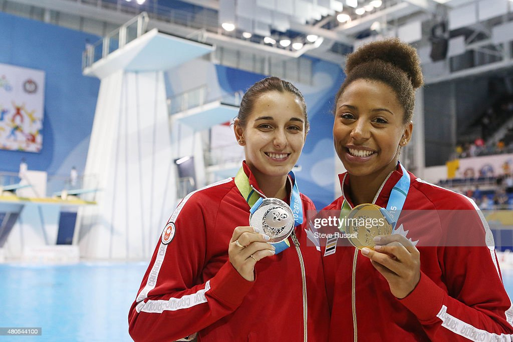 TORONTO, ON- JULY 12 - Pamela Ware won silver and Jennifer Abel won the gold in the women's 3 metre springboard diving finals at the Pan Am Games at CIBC Aquatic Centre/Field House in Toronto. July 12, 2015.