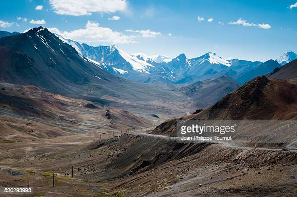 Pamir Highway between Akbaital pass and Karakul