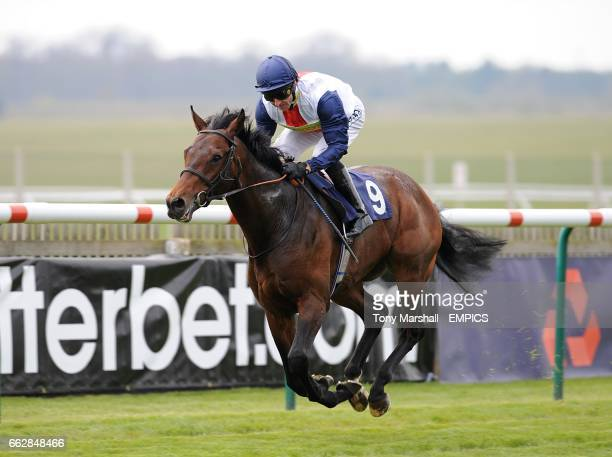 Pampas Cat ridden by Jimmy Fortune on his way to winning the Federation Of Bloodstock Agents Maiden Stakes