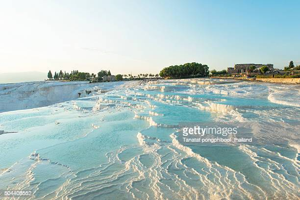 Pamukkale at sunset