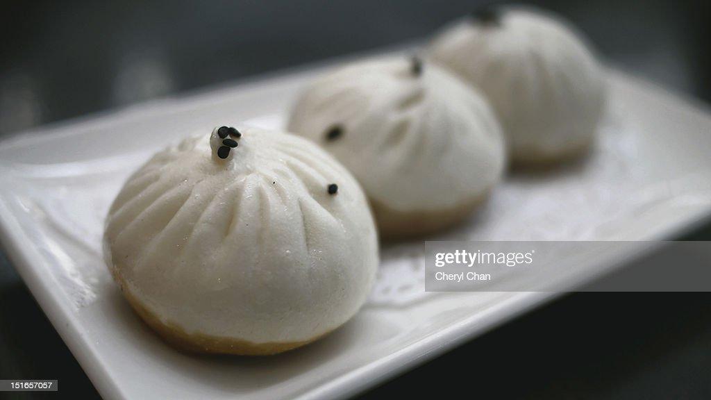 Pan fried dumpling : Stock Photo