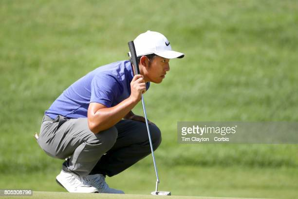 CT Pan in action during the third round of the Travelers Championship Tournament at the TPC River Highlands Golf Course on June 24th 2017 in Cromwell...