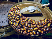 Roast chestnuts are a typical autumn and winter product in Italy, sold in the streets to heat the cold days of these seasons and for the taste of genuine and traditional products.
