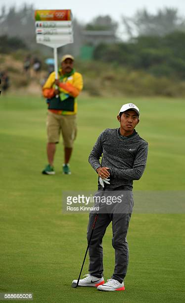 Pan of Taipei on the 5th hole during the second round of the Olympic Golf tournament on Day 7 of the Rio 2016 Olympic Games at the Olympic Golf...