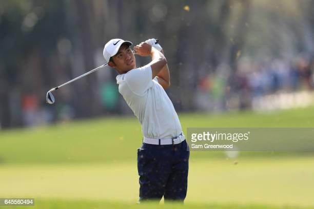 T Pan of Taiwan during the third round of The Honda Classic at PGA National Resort and Spa on February 25 2017 in Palm Beach Gardens Florida