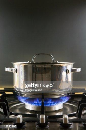 Pan on a gas hob