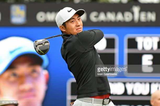 T Pan tees off on the 10th hole during the second round of the RBC Canadian Open at Glen Abbey Golf Club in Oakville ON
