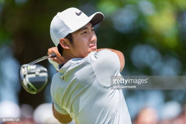 T Pan tees off on the 1st hole during final round action of the RBC Canadian Open on July 30 at Glen Abbey Golf Club in Oakville ON Canada