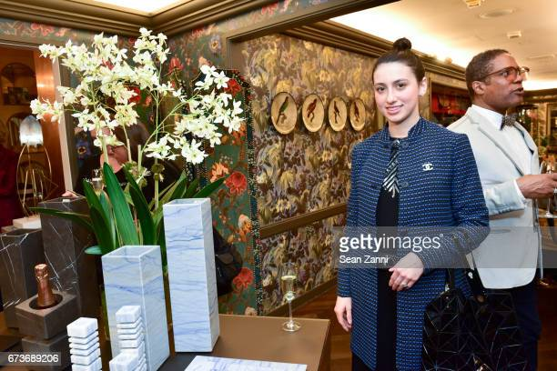 Panagiota Mendi attends the Marble Accessories Debut by Designer Spiros Soulis on the Seventh Floor at Bergdorf Goodman on April 26 2017 in New York...