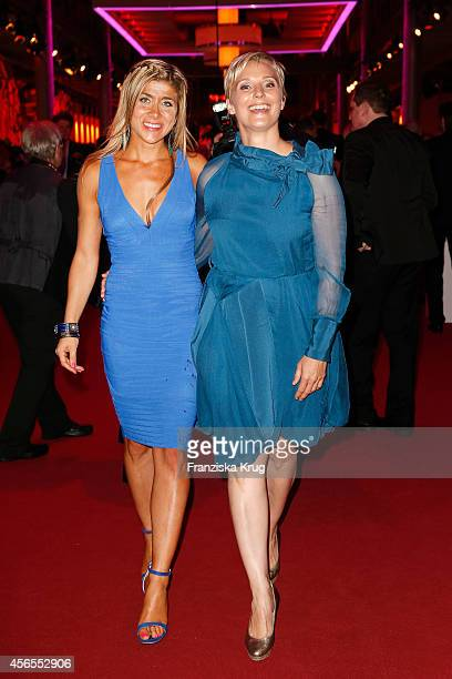 Panagiota Petridou and guest attend the Deutscher Fernsehpreis 2014 after show party on October 02 2014 in Cologne Germany