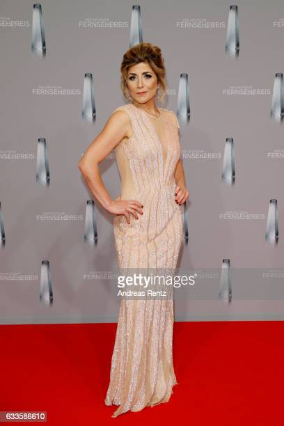 Panagiota Petridou attends the German Television Award at Rheinterrasse on February 2 2017 in Duesseldorf Germany