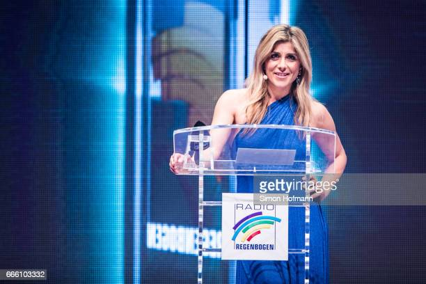 Panagiota Petridou holds a speech during the Radio Regenbogen Award 2017 at Europapark on April 7 2017 in Rust Germany