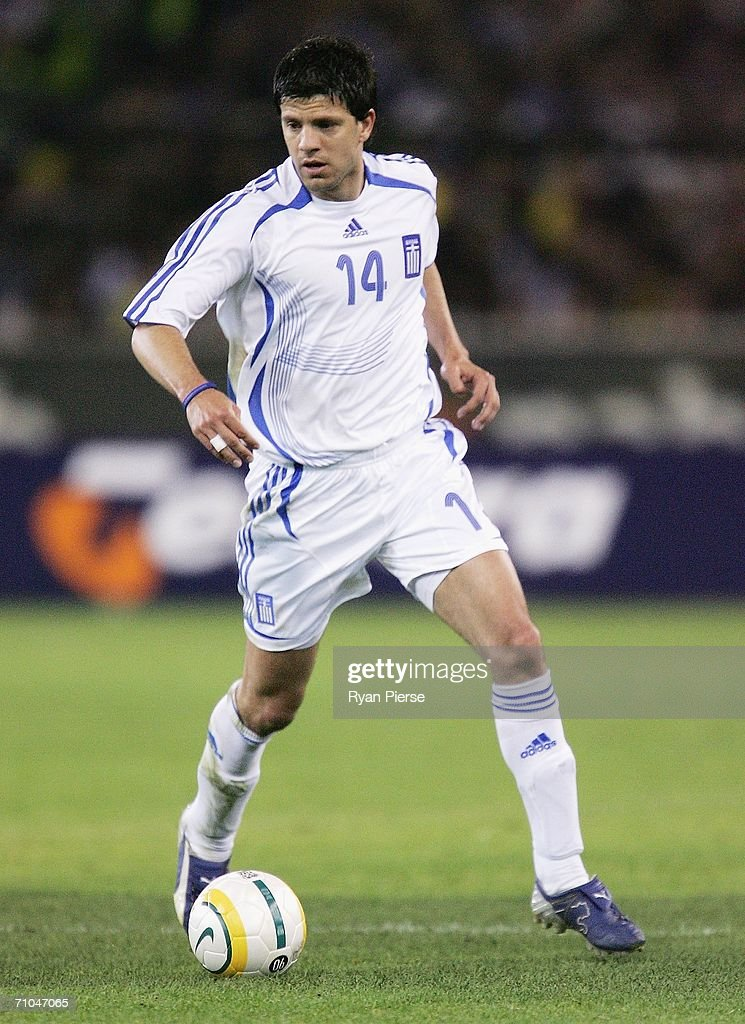 Panagiotis Fyssas of Greece in action during the Powerade Cup international friendly match between Australia and Greece at the Melbourne Cricket Ground May 25, 2006 in Melbourne, Australia.