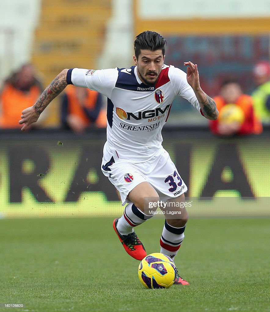 Panagiotis Kone of Bologna during the Serie A match between Calcio Catania and Bologna FC at Stadio Angelo Massimino on February 17, 2013 in Catania, Italy.