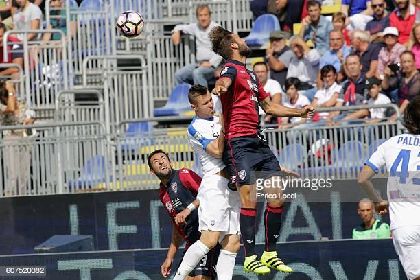 Panagiotis Tachtsidis of CAgliari in action during the Serie A match between Cagliari Calcio and Atalanta BC at Stadio Sant'Elia on September 18 2016...