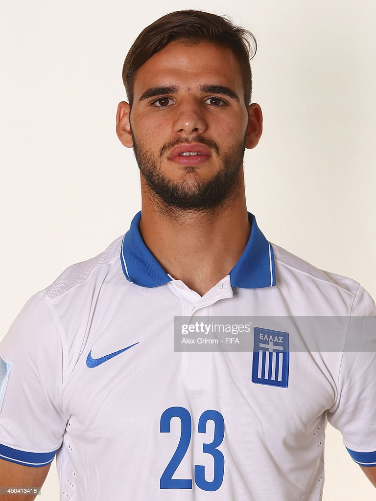 <a gi-track='captionPersonalityLinkClicked' href=/galleries/search?phrase=Panagiotis+Tachtsidis&family=editorial&specificpeople=6240627 ng-click='$event.stopPropagation()'>Panagiotis Tachtsidis</a> of Greece poses during the official FIFA World Cup 2014 portrait session on June 10, 2014 in Aracaju, Brazil.