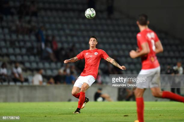 Panagiotis Vlachodimos of Nimes during the Ligue 2 match between Nimes Olympique and As Nancy Lorraine at Stade des Costieres on August 14 2017 in...