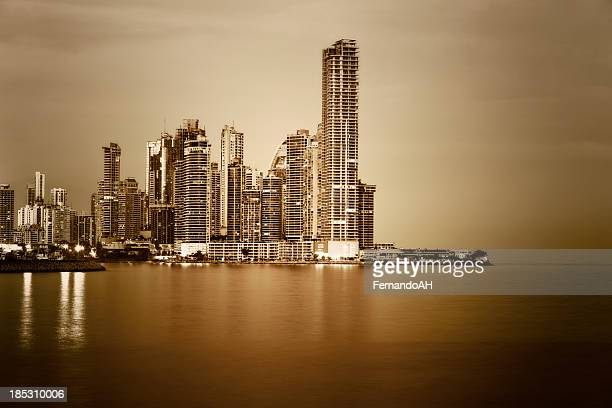 Panama at Night  doutone