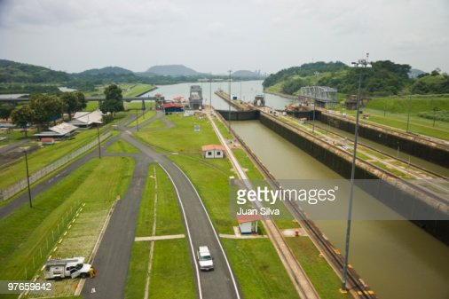 Panama Canal Panama City Central America Stock Photo