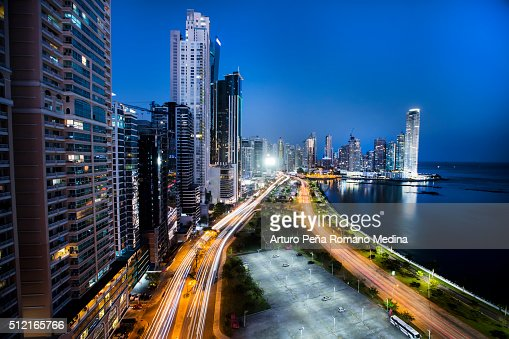 Panama city at night