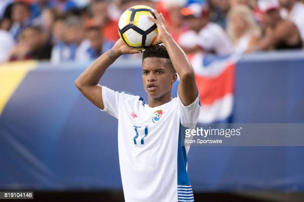 Panama Defender Luis Ovalle readies for a throwin in the second half during the CONCACAF Gold Cup Quarterfinal game between Costa Rica and Panama on...
