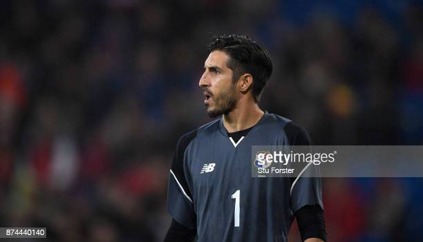 Panama goalkeeper Jaime Penedo in action during the International Friendly match between Wales and Panama at Cardiff City Stadium on November 14 2017...