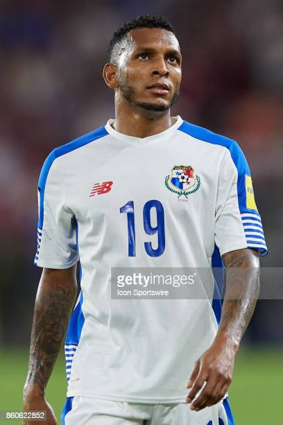 Panama midfielder Alberto Quintero looks on during the World Cup Qualifying match between the the United States and Panama on October 6 2017 at...