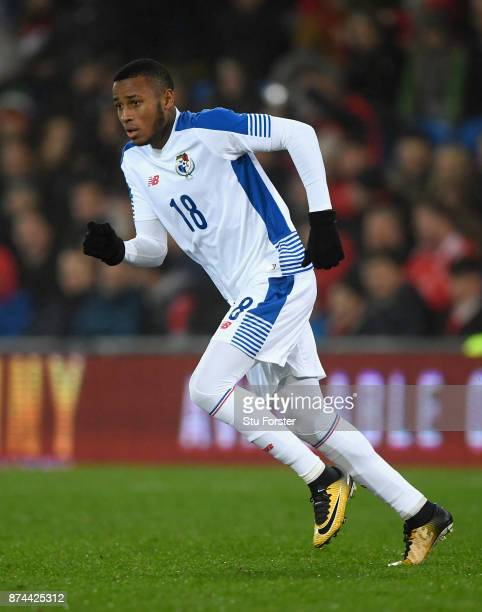 Panama player Alfredo Stephens in action during the International Friendly match between Wales and Panama at Cardiff City Stadium on November 14 2017...