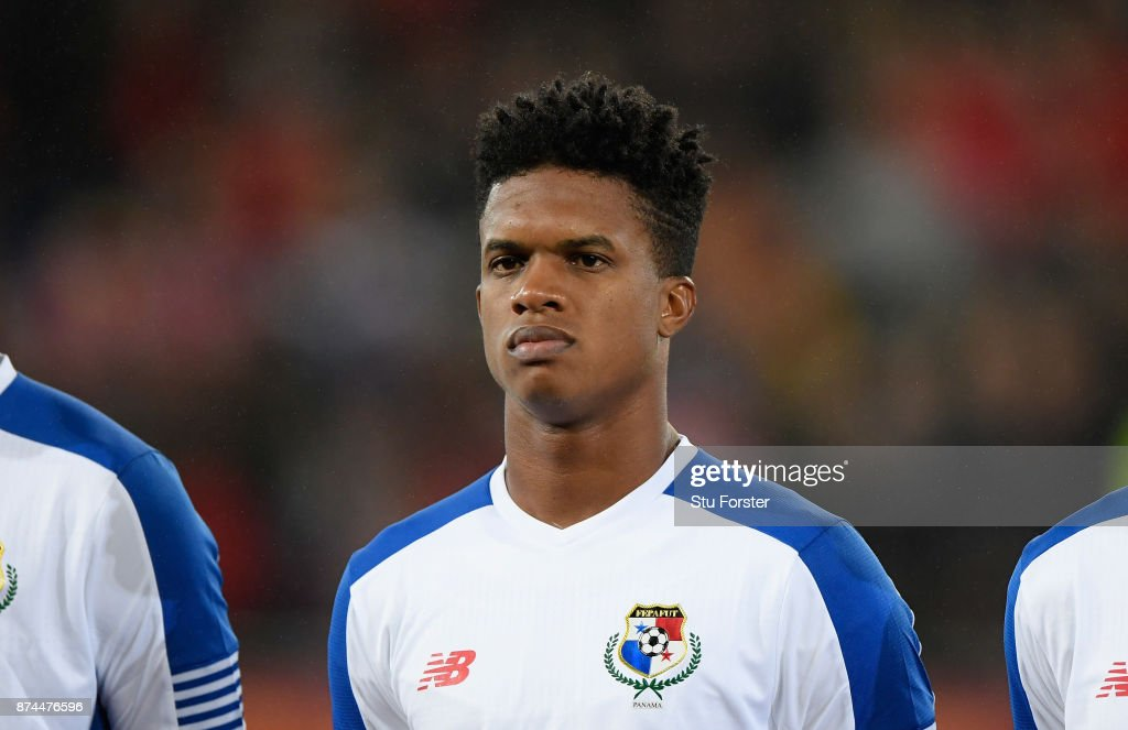 Panama player Luis Ovalle pictured before the International Friendly match between Wales and Panama at Cardiff City Stadium on November 14, 2017 in Cardiff, Wales.