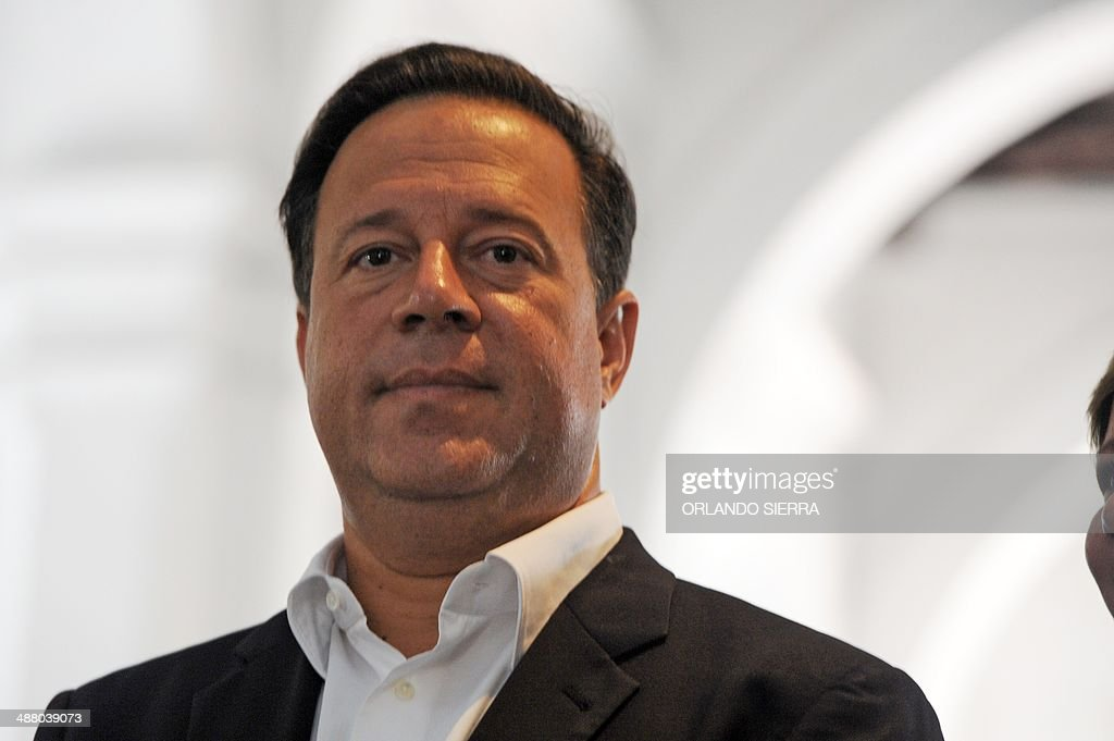 Panamanian presidential candidate <a gi-track='captionPersonalityLinkClicked' href=/galleries/search?phrase=Juan+Carlos+Varela&family=editorial&specificpeople=5906542 ng-click='$event.stopPropagation()'>Juan Carlos Varela</a>, of the Panamenista Party (PP), looks on in Panama City, on May 3, 2014 on the eve of presidential elections. AFP PHOTO/Orlando SIERRA.