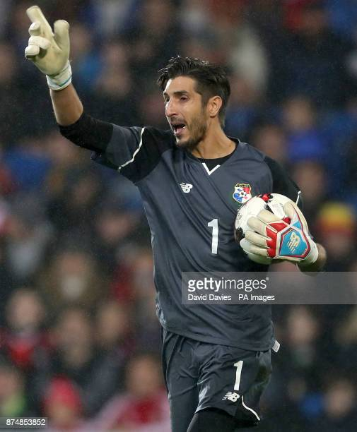 Panama's Jaime Penedo during the International Friendly match at the Cardiff City Stadium PRESS ASSOCIATION Photo Picture date Tuesday November 14...