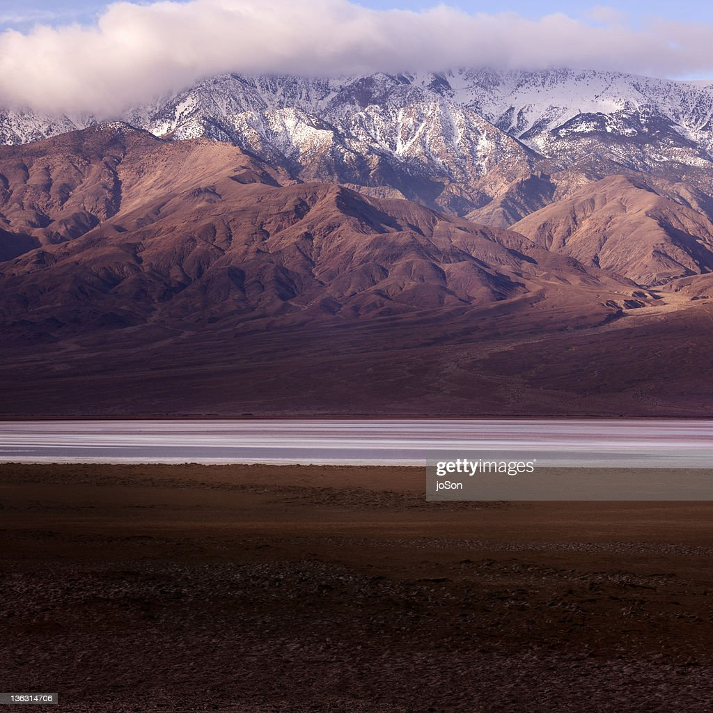 Panamint Range and Badwater Basin : Stock Photo