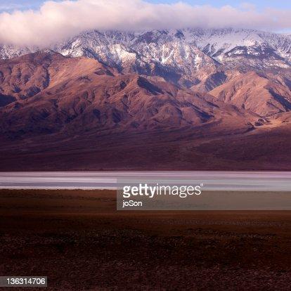 Panamint Range and Badwater Basin : Stock Photo