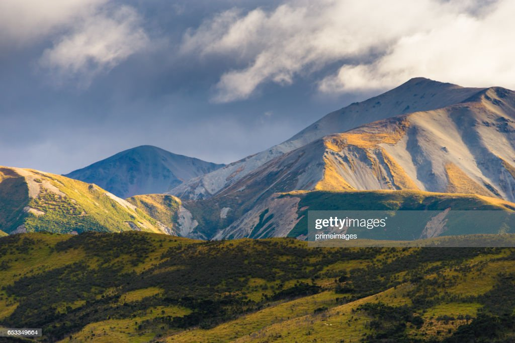 Panaramic view of famaus place at south island Queenstown : Stockfoto
