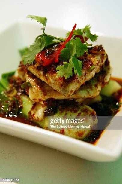Panasian Barramundi with roasted chilli sauce from Green Bamboo restaurant 14 April 2005 SMH Picture by JENNIFER SOO