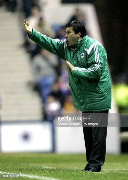 Panathinaikos manager Jose Peseiro on the touchline