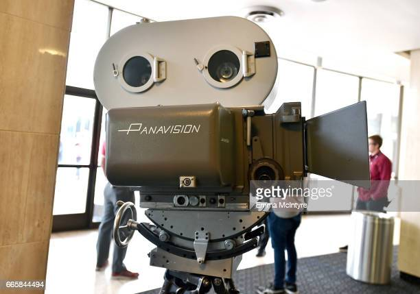 Panavision camera on display at the screening of 'It's a Mad Mad Mad Mad World' during the 2017 TCM Classic Film Festival on April 7 2017 in Los...