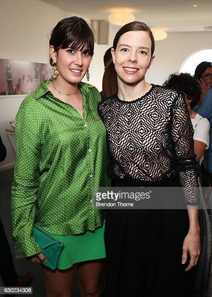 Panayota Theodore and Bianca Spender pose during the Australian Fashion Foundation Awards 2016/17 on December 19 2016 in Sydney Australia