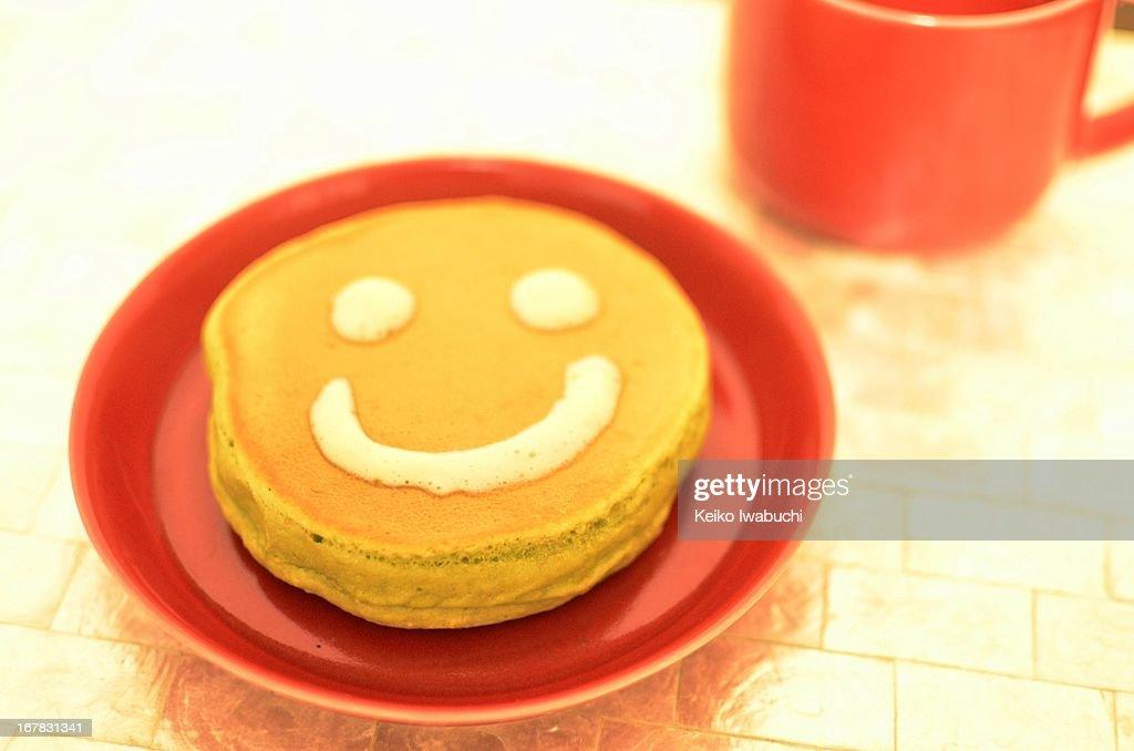 Pancake with tofu cream : Stock Photo