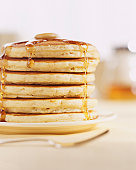 Pancakes and Melting Maple Syrup