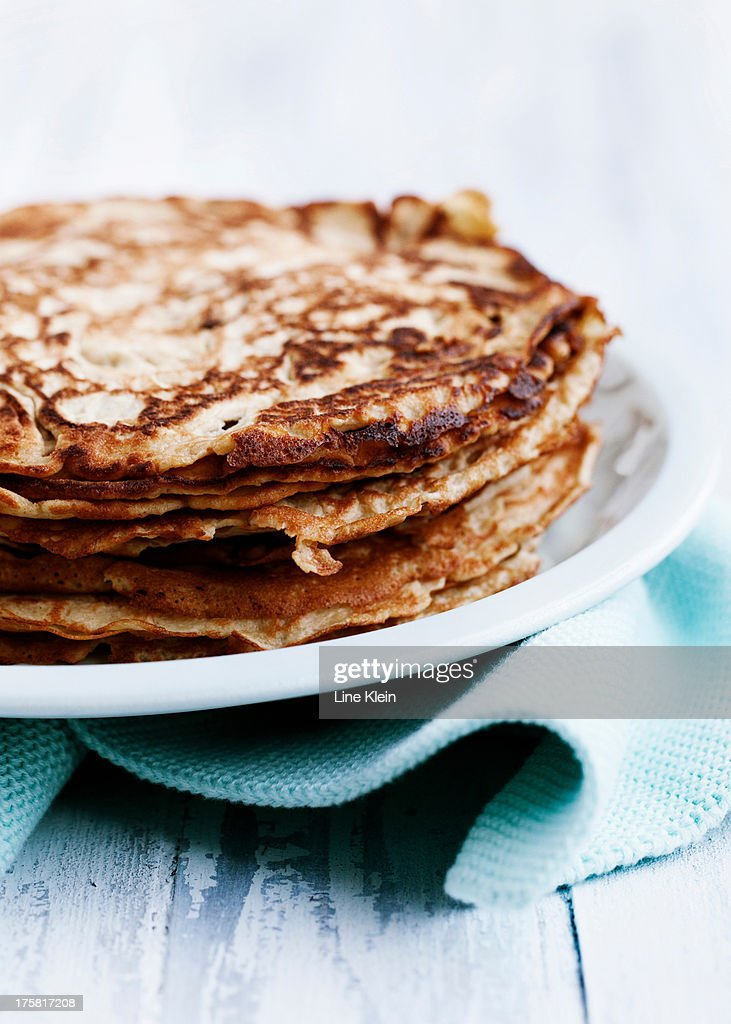 Pancakes on plate : Stock Photo
