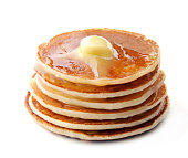 Pancakes on white background.Healthy eating.
