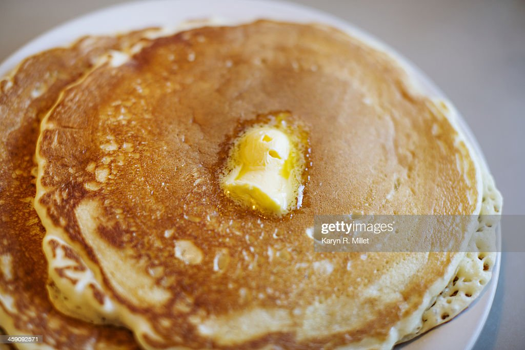 Pancakes with butter : Stock Photo