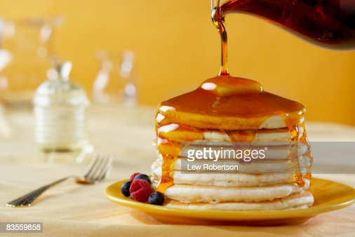 Pancakes with Syrup Pour