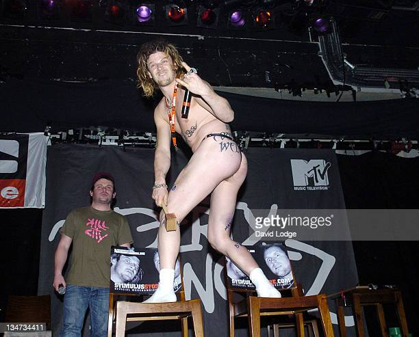 Pancho and Matthew Pritchard of Dirty Sanchez during Dirty Sanchez in Concert at Islington Academy in London March 18 2005 at Islington Academy in...